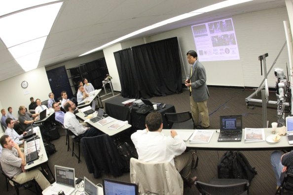 June 12, 2013 CDR.  Paul Oh (lead, Team DRC-Hubo) kicking off CDR for DARPA (center front row) at Drexel